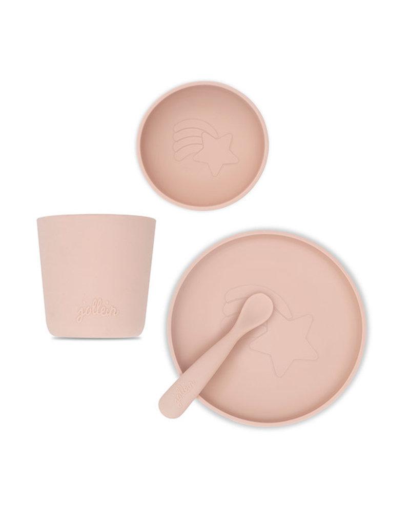 Jollein Jollein Dinerset siliconen pale pink