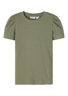 Name-it Name-it shirt NMFHanilla deep lichen green