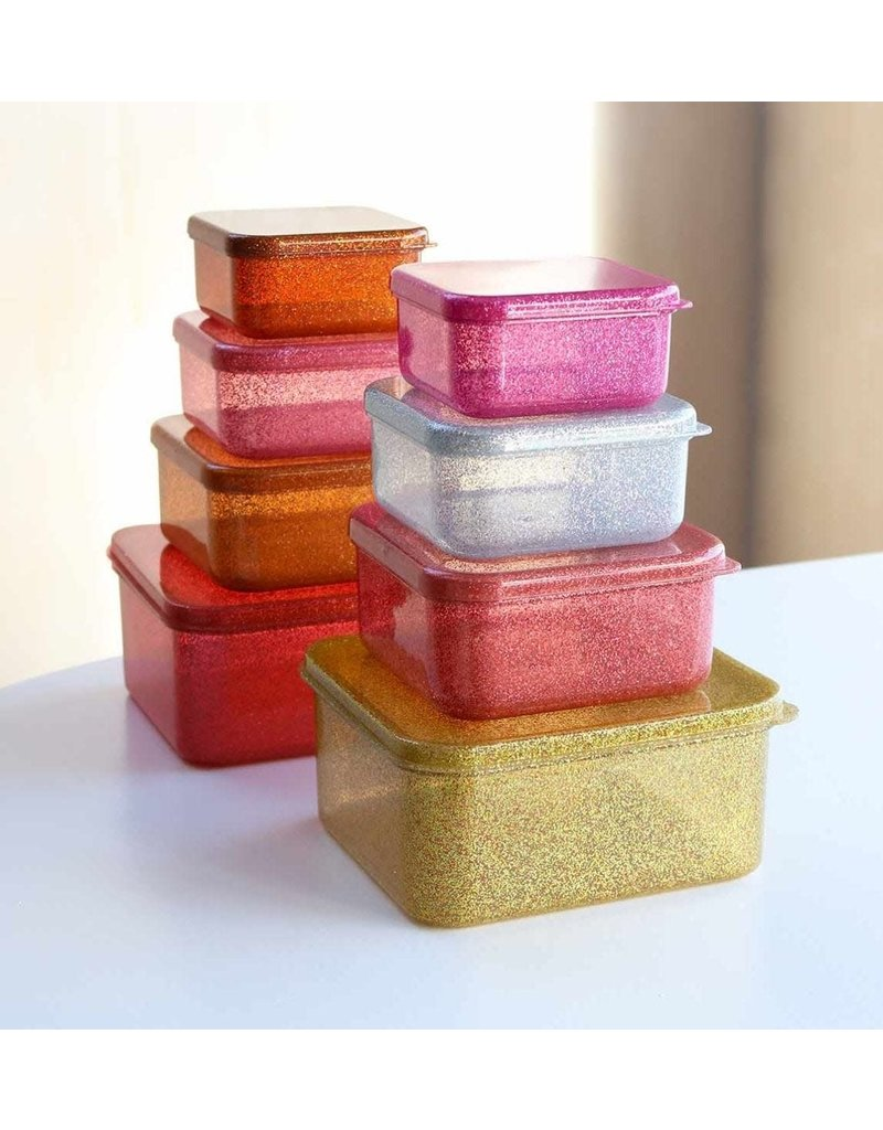 A little lovely compagny Lunch & snackbox set Gold blush