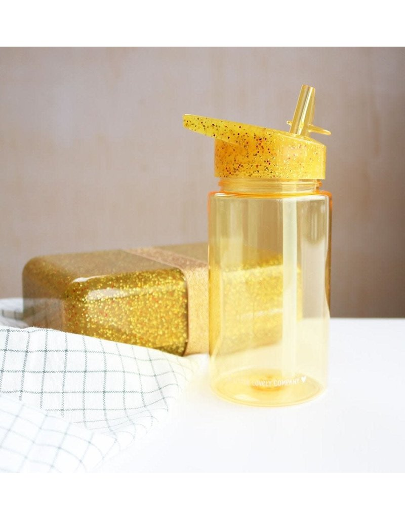 A little lovely compagny Drinkfles glitter goud