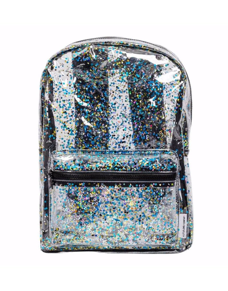 A little lovely compagny Rugzak glitter transparant/zwart