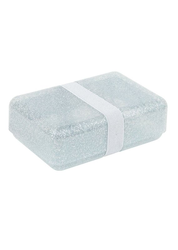 A little lovely compagny Lunchbox glitter zilver