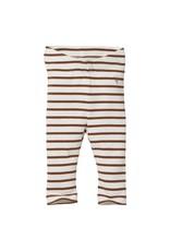 Levv Levv  legging Beau aop brown almond stripe