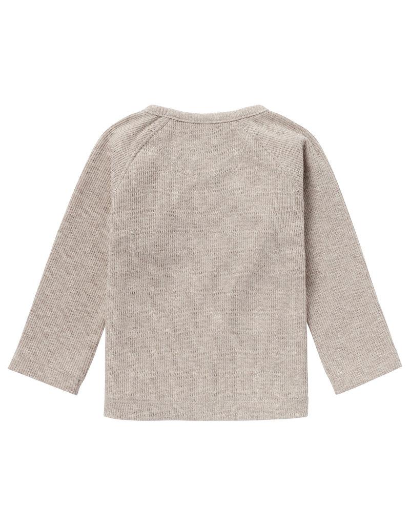 Noppies Noppies overslagshirt rib Nanyuki taupe mel