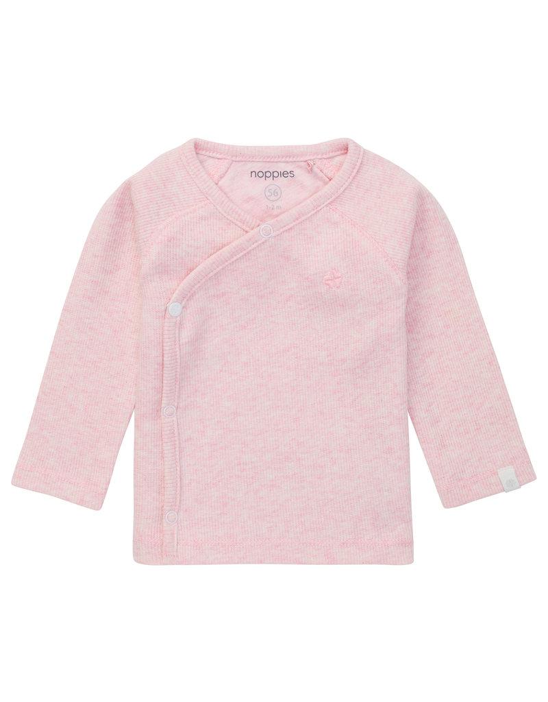 Noppies Noppies overslagshirt rib Nanyuki light rose mel