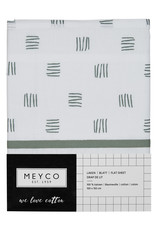 Meyco Meyco wieglaken Block stripe forest green (75x100cm)
