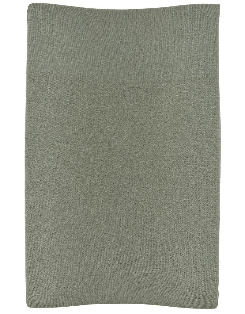 Meyco Meyco aankleedkussenhoes knit basic forest green