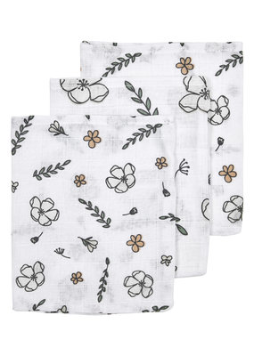 Meyco Meyco washandjes 3pck Gots floral