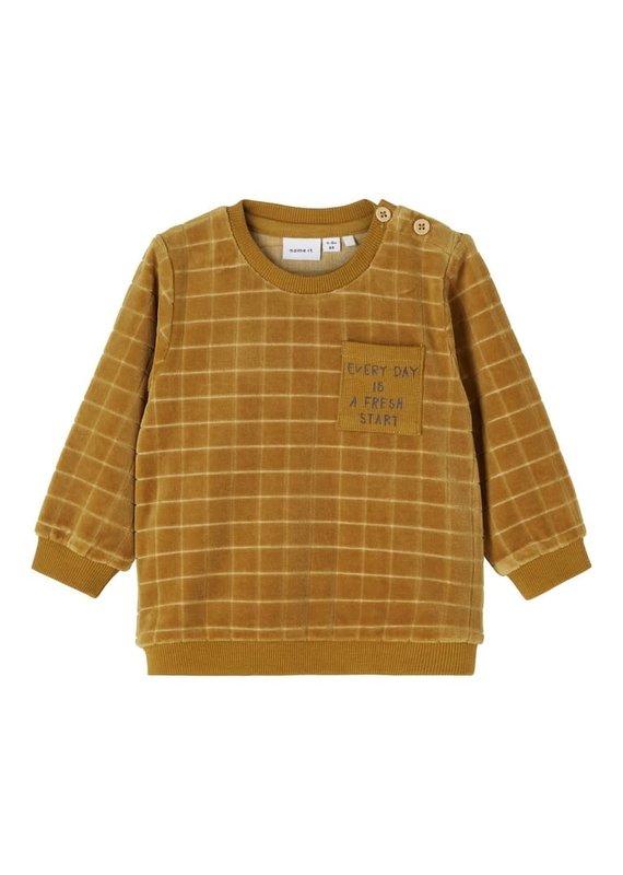 Name-it Name-it sweater velvet NBMLennon cumin