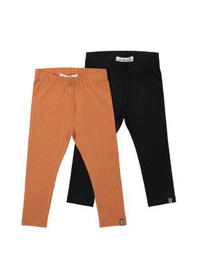 Koko Noko Koko Noko. legging 2-pack rusty brown + black