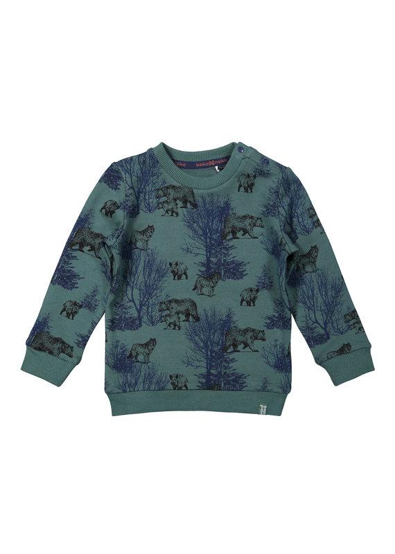 Koko Noko Koko Noko sweater green + navy