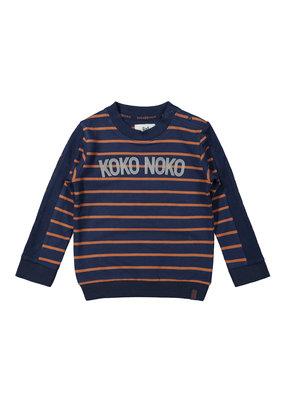 Koko Noko Koko Noko  sweater navy + camel