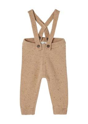 Lil' Atelier Lil' Atelier broek NBMEgalto knit pant tobacco brown