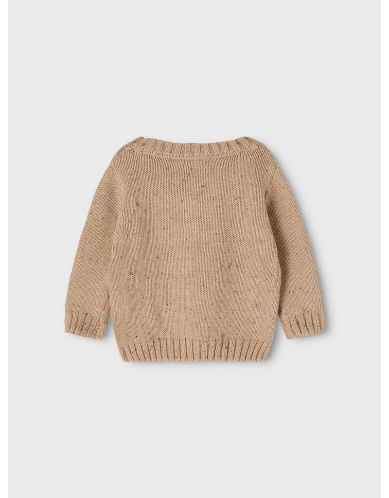 Lil' Atelier Lil' Atelier trui NBMEgalto ls knit tobacco brown
