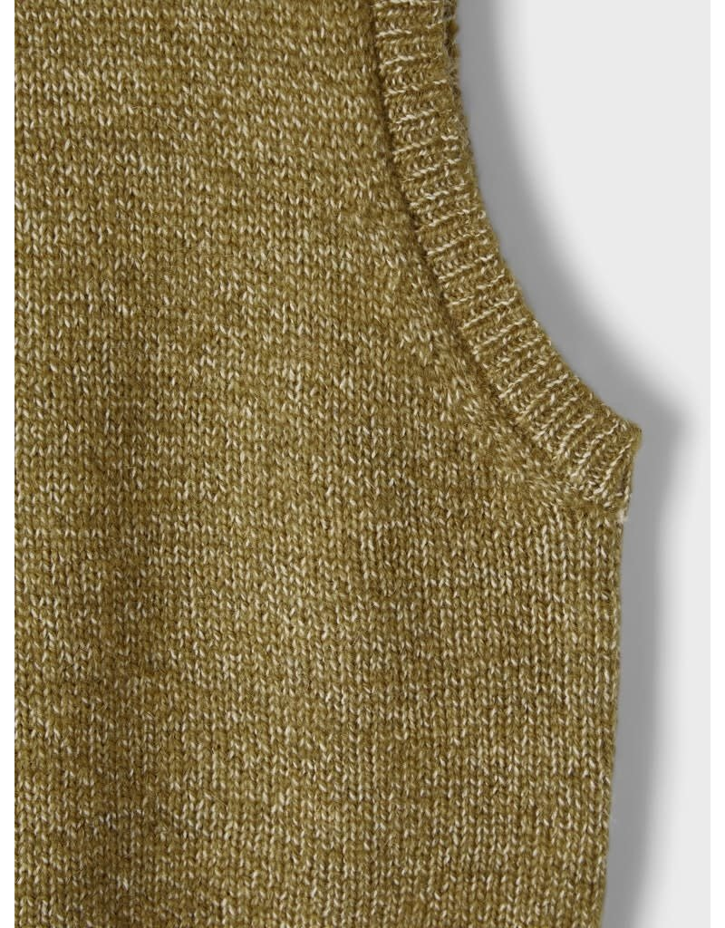 Name-it Name-it slipover NMFNapuf knit stone gray