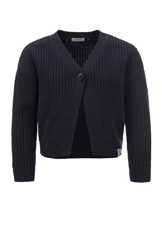 Looxs Looxs cardigan knitted off black