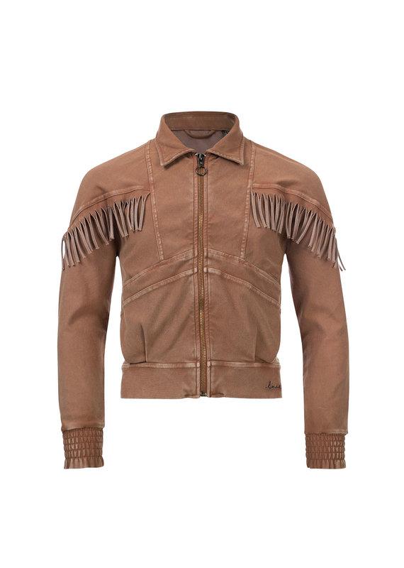 Looxs Looxs jog jacket twill g. dyed medium brown