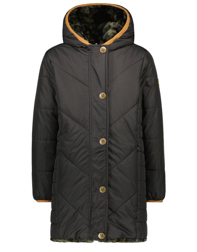 Like Flo Like Flo reversible hooded long jacket army