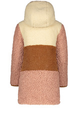 Like Flo Like Flo reversible colourblock hooded long jacket camel