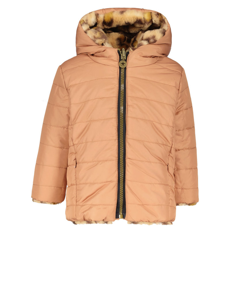 Like Flo Like Flo hooded reversible jacket old pink