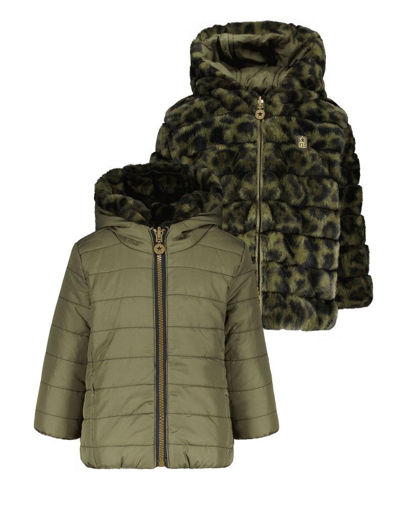 Like Flo Like Flo hooded reversible jacket army