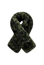 Like Flo Like Flo fur scarf double layer army size 1