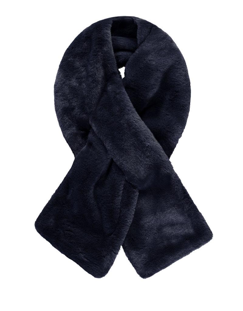 Like Flo Like Flo fur scarf double layer navy