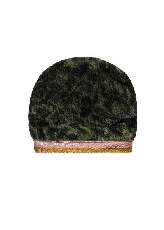 Like Flo Like Flo fur hat with rib army