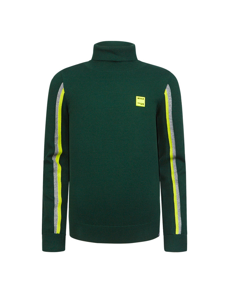 Retour Retour sweater Luuk dark green