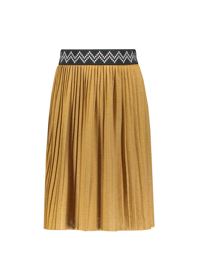 Like Flo Like Flo jersey coated plisse skirt maxi camel