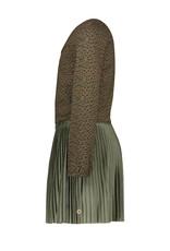 Like Flo Like Flo jacquard jersey dress with short plisse skirt army