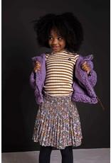 Like Flo Like Flo woven crepe plisse skirt graphic flower