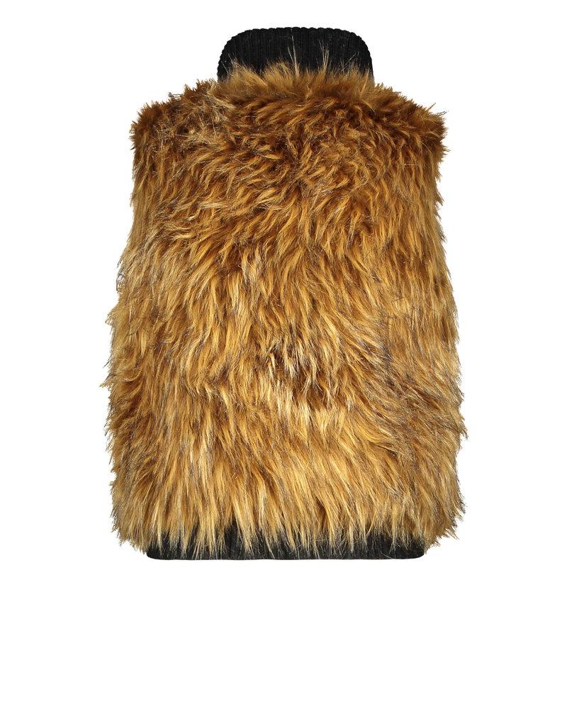 Like Flo Like Flo long hair fur bodywarmer natural