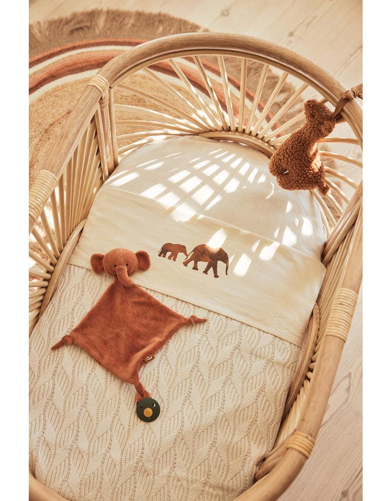 Jollein Jollein Deken 75x100 spring knit ivory/coral fleece
