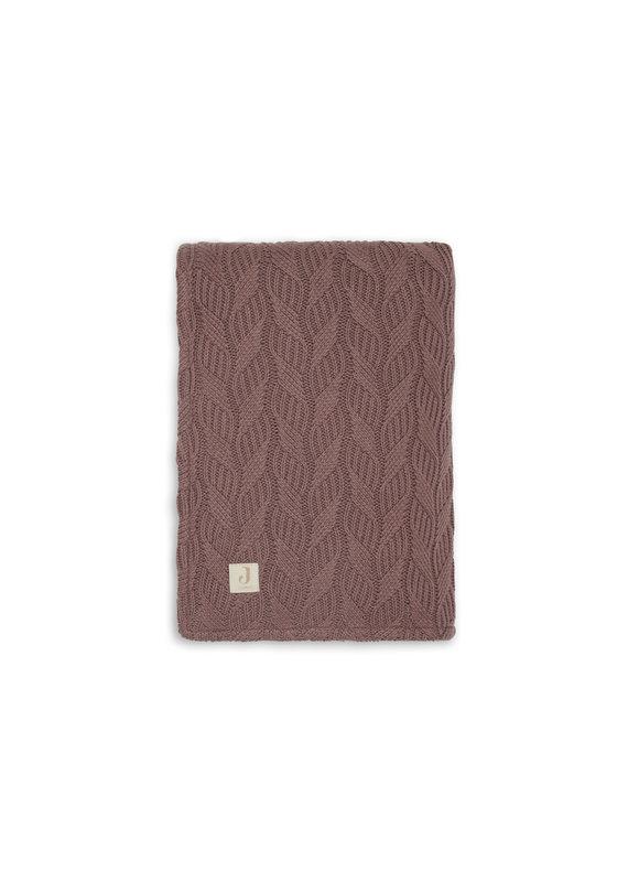 Jollein Jollein Deken 75x100 spring knit chestnut/coral fleece