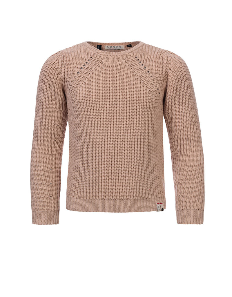 Looxs Looxs pullover knitted hushed salmon