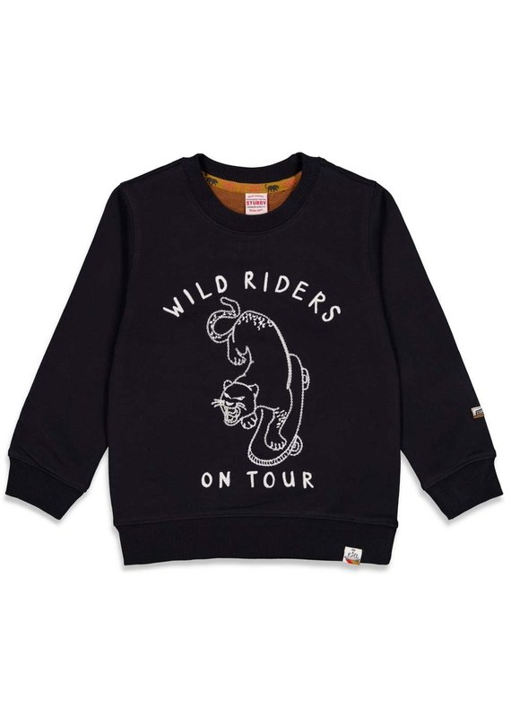 Sturdy Sturdy sweater wild riders On a Roll zwart