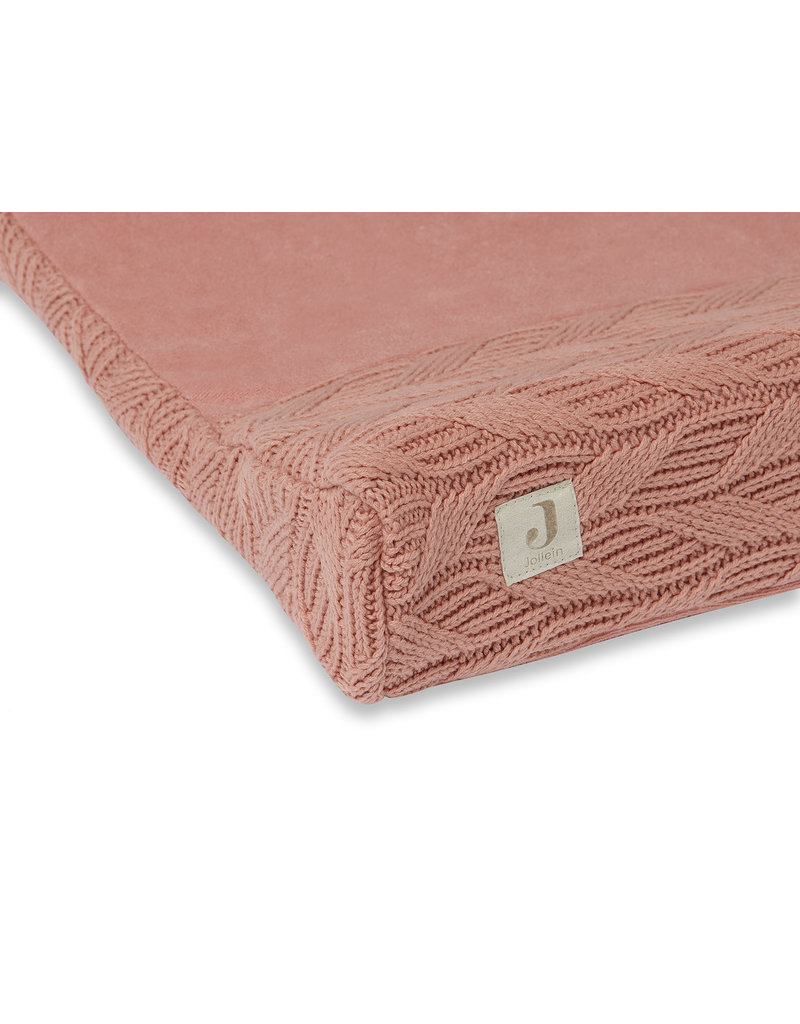 Jollein Jollein aankleedkussenhoes Spring knit rosewood