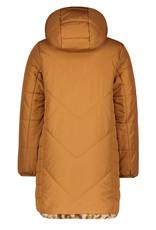 Like Flo Like Flo reversible hooded long jacket caramel