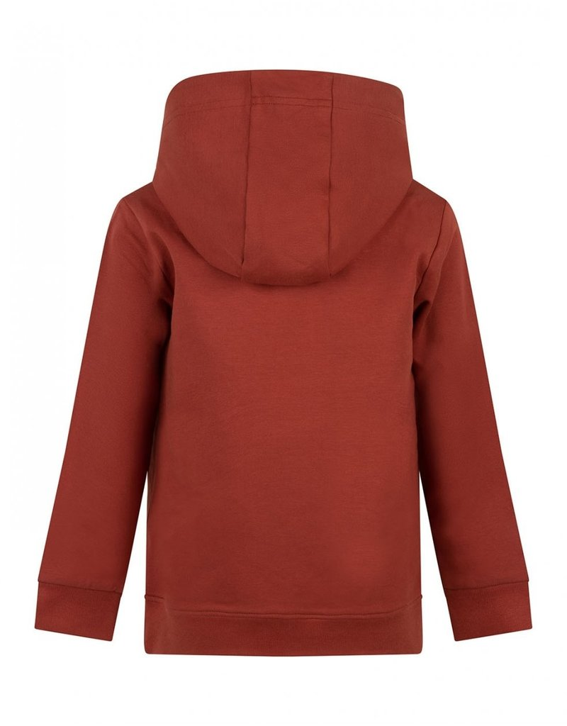 Daily7 Daily7 sweater hooded badge barn bordeaux