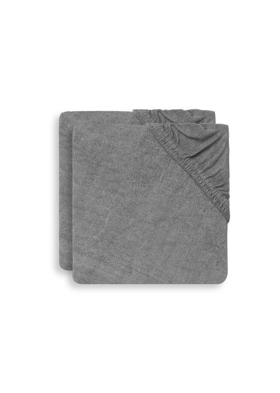 Jollein Jollein aankleedkussenhoes badstof storm grey (2pack)