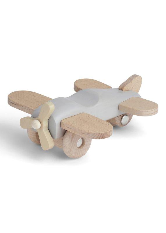 konges slojd Konges Slojd houten vliegtuigje Warm grey