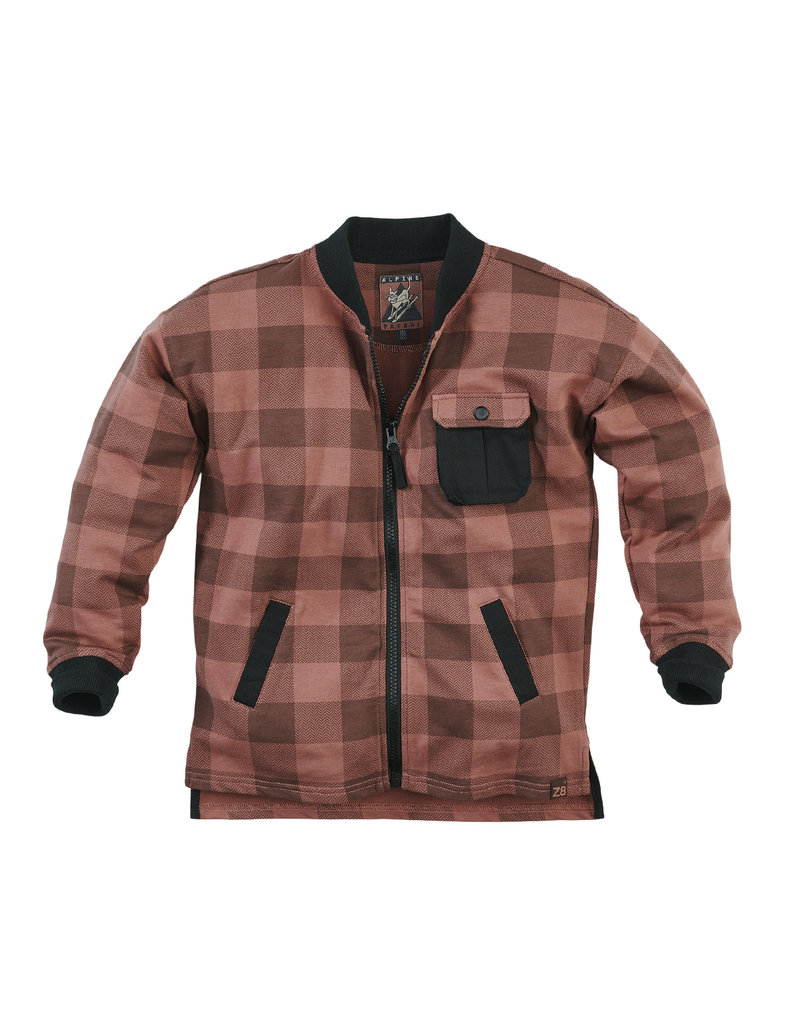 Z8 Z8 blouse Sjakie red rust/check