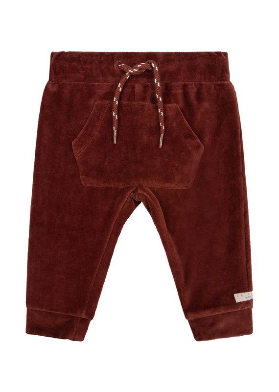 Daily7 Daily 7 broek pocket velvet rusty brown