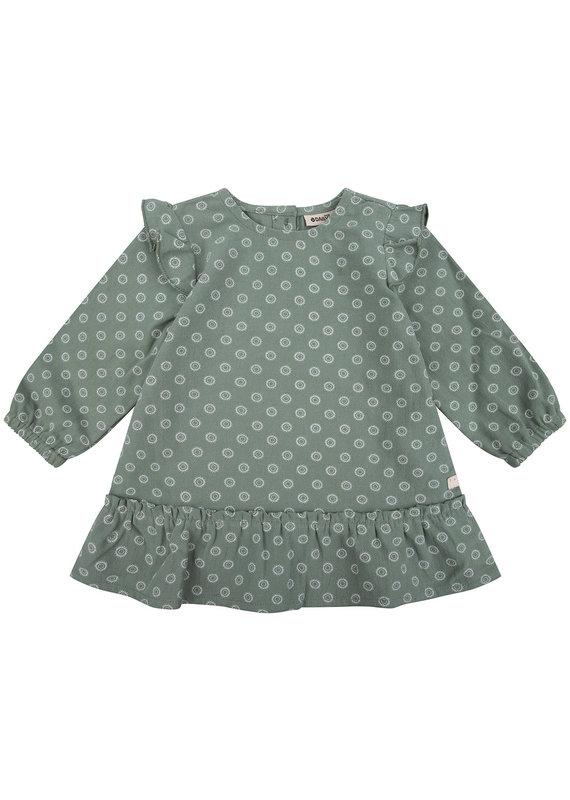 Daily7 Daily 7 jurk woven printed green sea