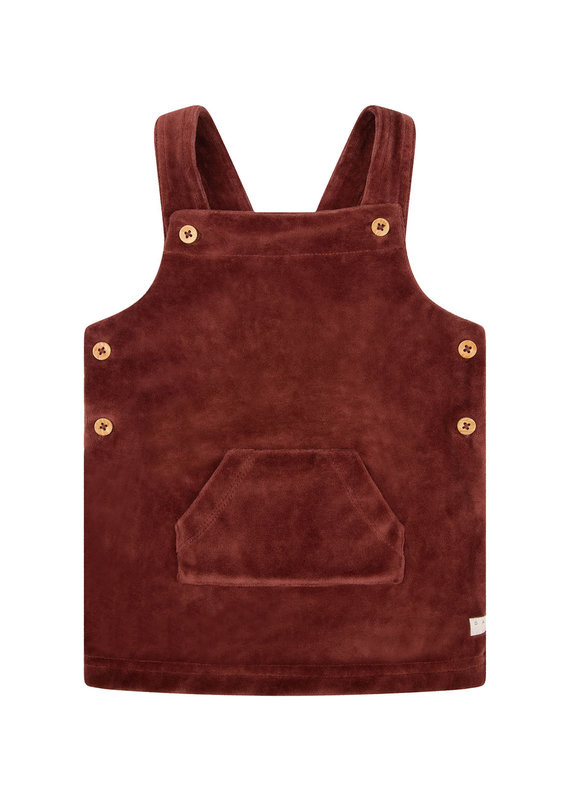 Daily7 Daily 7 salopette dress velvet rusty brown