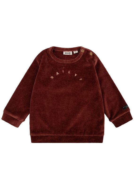Daily7 Daily 7 shirt crewneck velvet Daily7 rusty brown