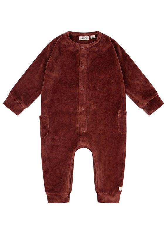 Daily7 Daily 7 playsuit velvet rusty brown