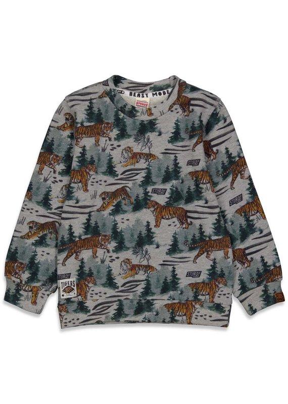 Sturdy Sturdy sweater aop Wild Things grijs melange