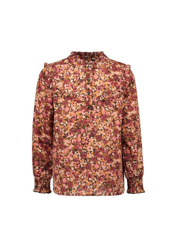 Like Flo Like Flo woven crepe blouse camou flower